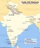 India hillstations Map