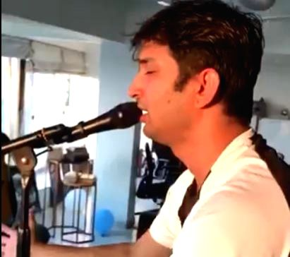 Sushant's fans praise his singing skills after a video emerges online video screengrab.