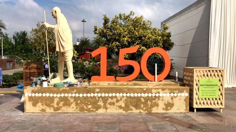 The South Delhi Municipal Corporation (SDMC) along with the Select City Walk mall organised an awareness drive to mark the 150 th birth anniversary of Mahatma Gandhi called SATYAGRAHA against Plastic.