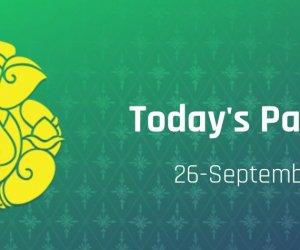 Today Panchang September 26, Sunday shubh muhurat, rahu kaal, tithi timings