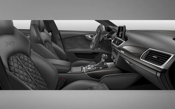 Interior view of Audi RS7 model