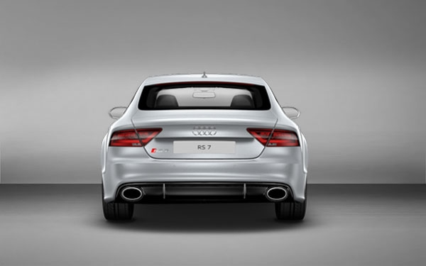 Rear view of Audi RS7
