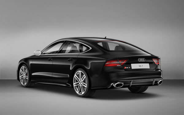 Side view of Black Audi RS7