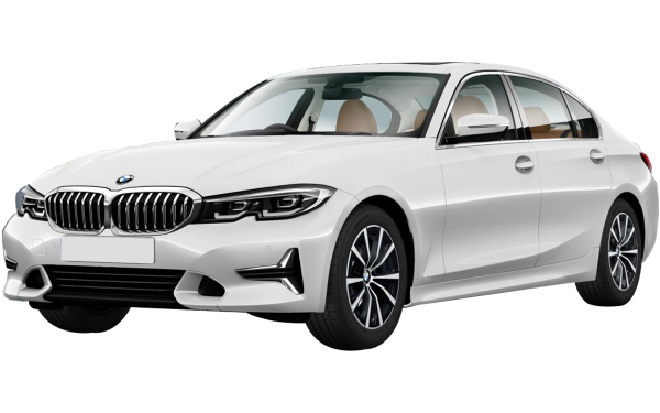 BMW 3 Series Gran Limousine Exterior Front Side View (Mineral White)