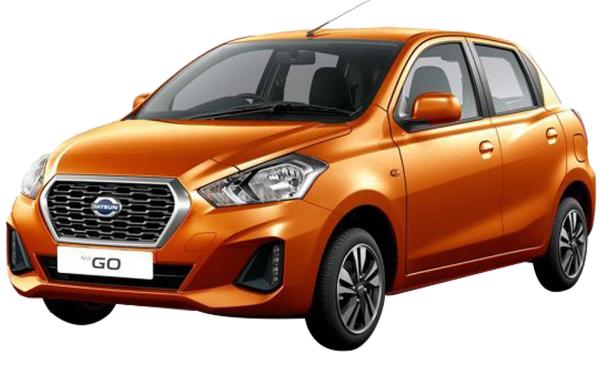 Datsun Go Exterior Front Side View (Amber Orange)