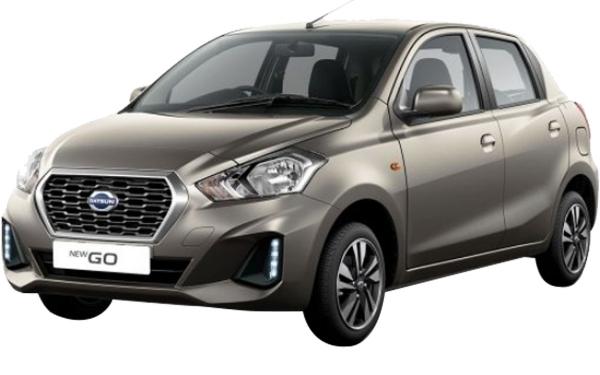 Datsun Go Exterior Front Side View (Bronze Grey)