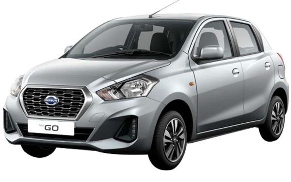 Datsun Go Exterior Front Side View (Crystal Silver)