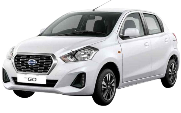 Datsun Go Exterior Front Side View (Opal White)