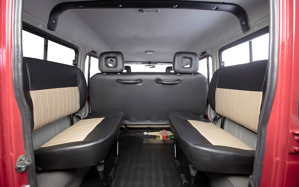 Force Gurkha Xpedition Interior Rear View