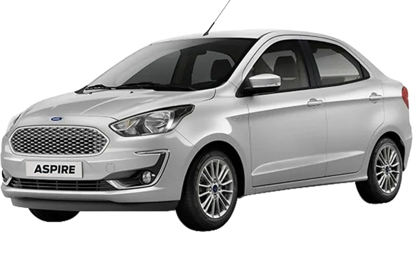 Ford Aspire Exterior Front Side View (Moondust Silver)