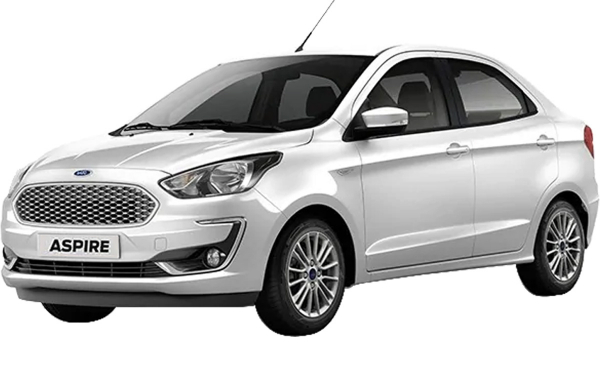 Ford Aspire Exterior Front Side View (Oxford White)