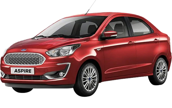 Ford Aspire Exterior Front Side View (Ruby Red)
