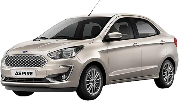 Ford Aspire Exterior Front Side View (White Gold)
