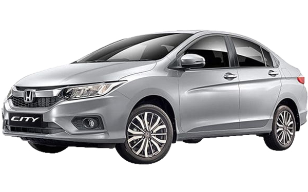 Honda City Exterior Front Side View (Lunar Silver)