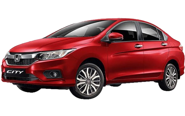 Honda City Exterior Front Side View (Radiant Red)