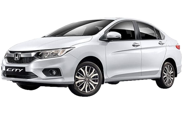 Honda City Exterior Front Side View (White Orchid Pearl)