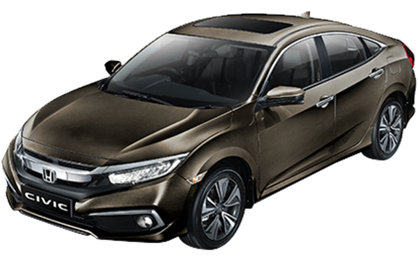 Honda Civic Exterior Front Side View (Golden Brown)