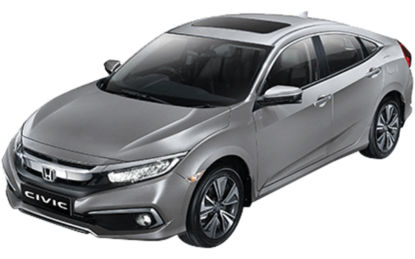 Honda Civic Exterior Front Side View (Lunar Silver)
