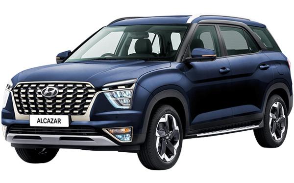 Hyundai Alcazar Exterior Front Side View (Starry Night)
