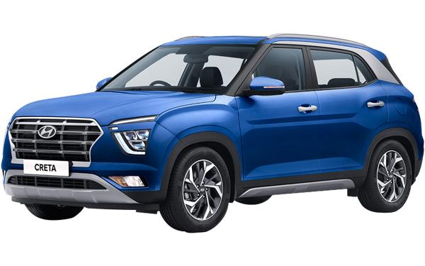 Hyundai Creta Exterior Front Side View (Galaxy Blue)