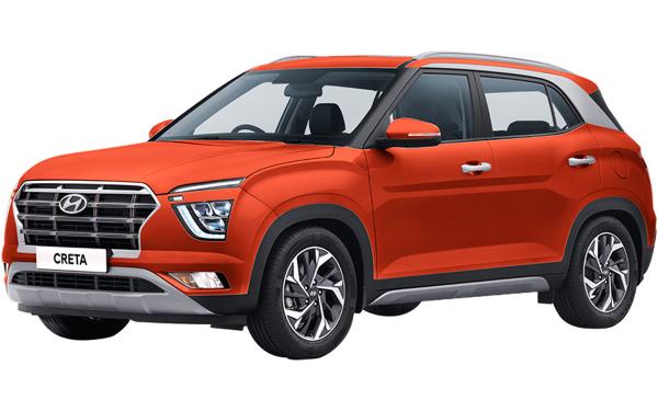 Hyundai Creta Exterior Front Side View (Lava Orange )