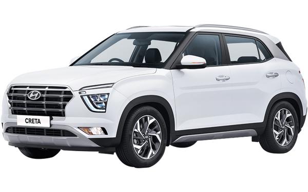 Hyundai Creta Exterior Front Side View (Polar White)