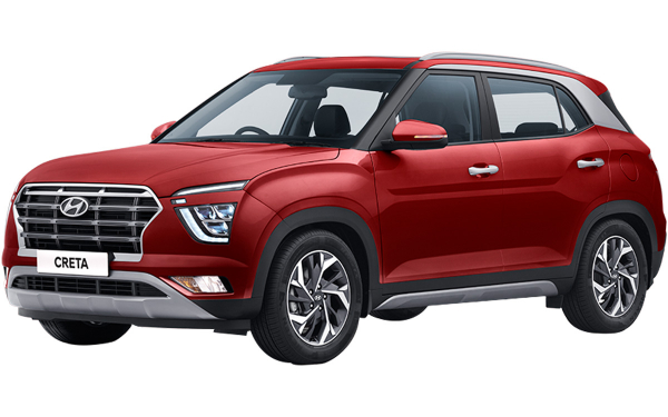 Hyundai Creta Exterior Front Side View (Red Mulberry)