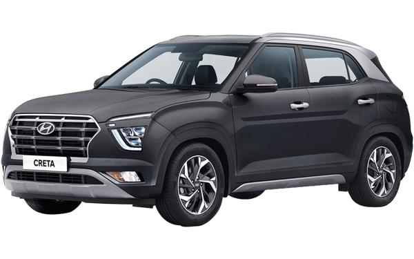 Hyundai Creta Exterior Front Side View (Titan Grey)