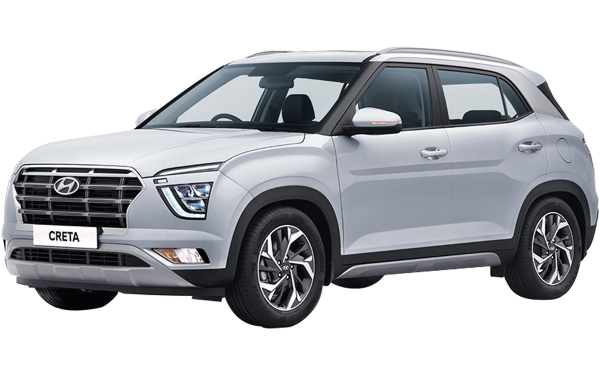 Hyundai Creta Exterior Front Side View (Typhoon Silver)