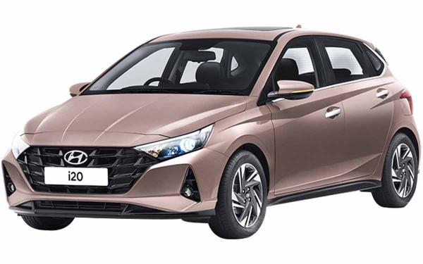 Hyundai i20 Exterior Front Side View (Metallic Copper)