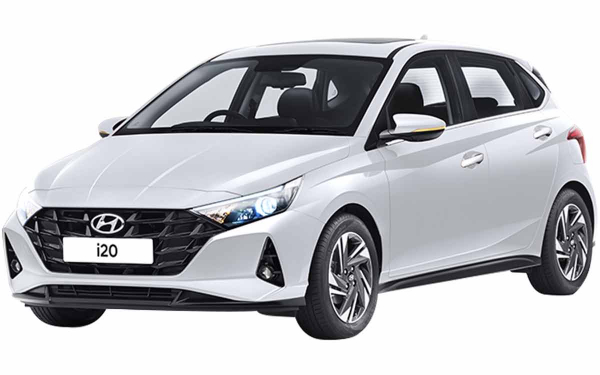 Hyundai i20 Exterior Front Side View (Polar White)