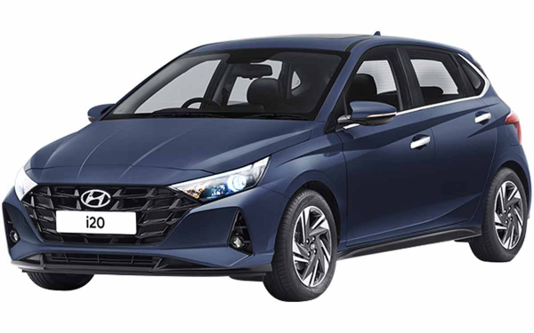 Hyundai i20 Exterior Front Side View (Starry Night)