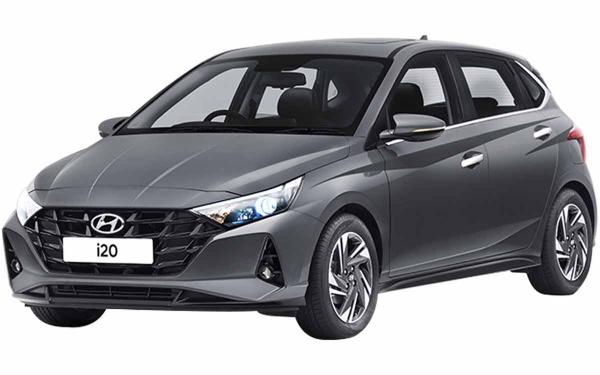 Hyundai i20 Exterior Front Side View (Titan Grey)