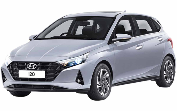 Hyundai i20 Exterior Front Side View (Typhoon Silver)
