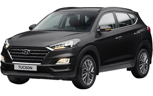 Hyundai Tucson Exterior Front Side View (Phantom Black)