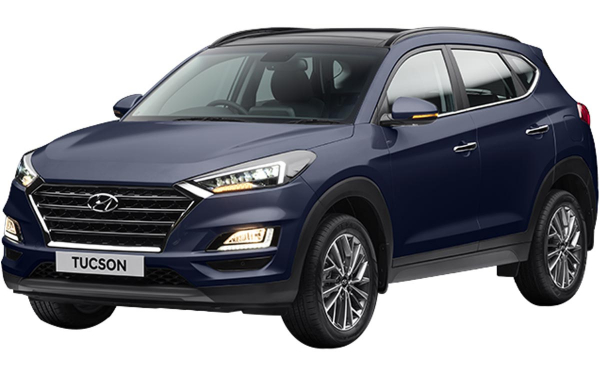 Hyundai Tucson Exterior Front Side View (Starry Night)