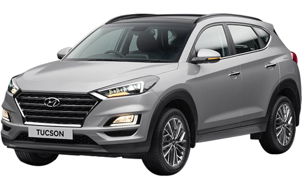 Hyundai Tucson Exterior Front Side View (Typhoon Silver)