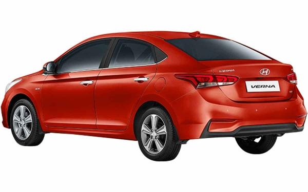 Hyundai Verna Exterior Rear Side View