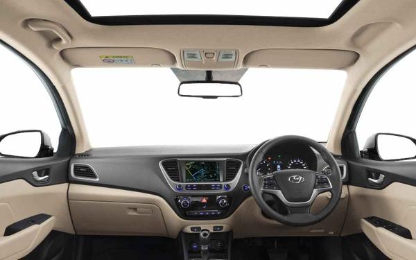 Hyundai Verna Interior Front View