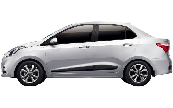 Hyundai Xcent Exterior Side View