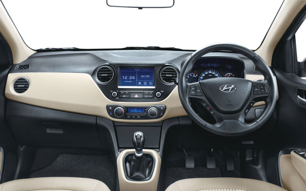 Hyundai Xcent Interior Front View