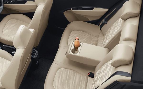 Hyundai Xcent Interior Rear Side View