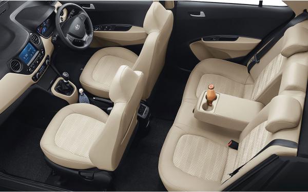 Hyundai Xcent Interior Side View