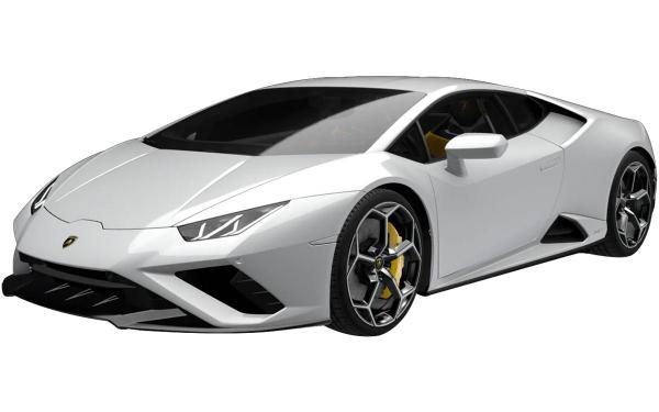 Lamborghini Huracan Evo RWD Front Side View (Bianco Icarus)
