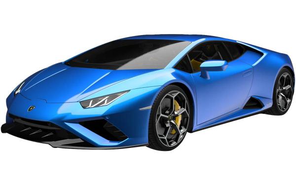Lamborghini Huracan Evo RWD Front Side View (Blu Eleos)