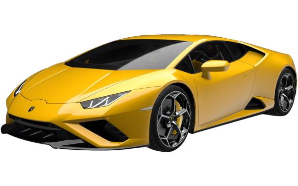 Lamborghini Huracan Evo RWD Front Side View (Giallo Belenus)