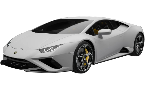 Lamborghini Huracan Evo RWD Front Side View (Grigio Adamas)