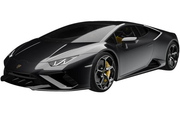 Lamborghini Huracan Evo RWD Front Side View (Nero Helene)