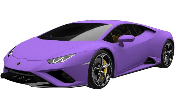 Lamborghini Huracan Evo RWD Front Side View (Viola Mel)