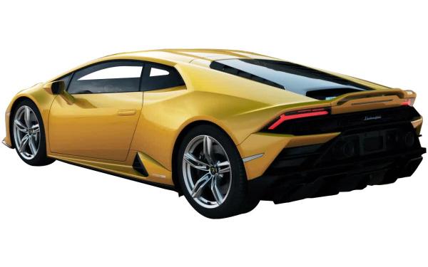 Lamborghini Huracan Evo RWD Rear Side View